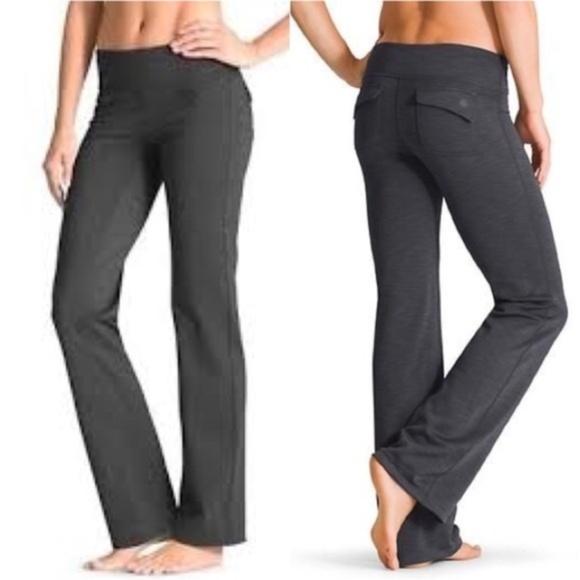 3c536907d5626 Athleta Pants | Fusion Flare Flap Pocket Gray Yoga Pant Xs | Poshmark